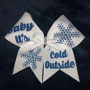 """Baby it's cold outside"" Bow"